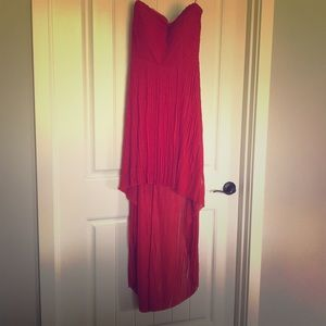 Sexy red strapless Guess dress!